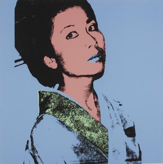 2163: ANDY WARHOL, 1928-1987 Kimiko, 1981 Screenprint i