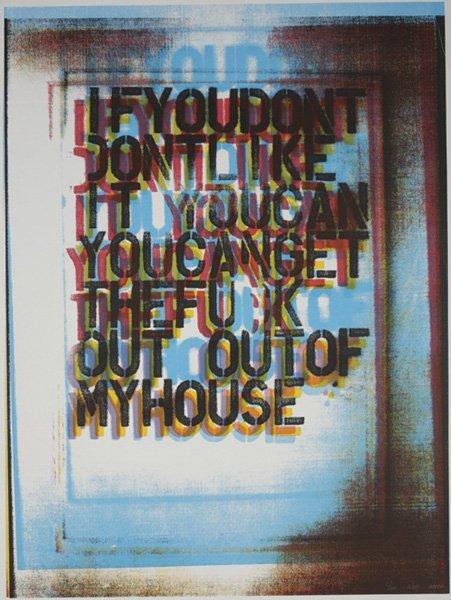 2218: CHRISTOPHER WOOL, b. 1955 My House II, 2000 Scree