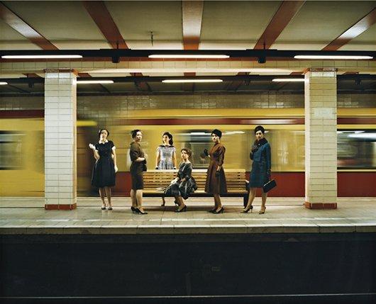 EVE SUSSMAN, Women in the S-Bahn (photographic still fr
