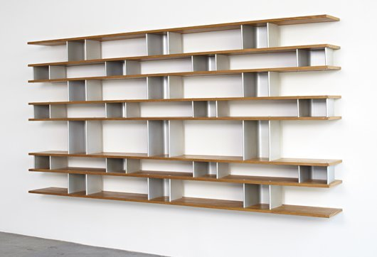 32: CHARLOTTE PERRIAND, Important wall-mounted bookcase