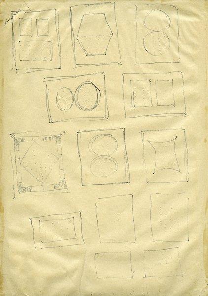 106: LUCIO FONTANA, Studi per Buchi