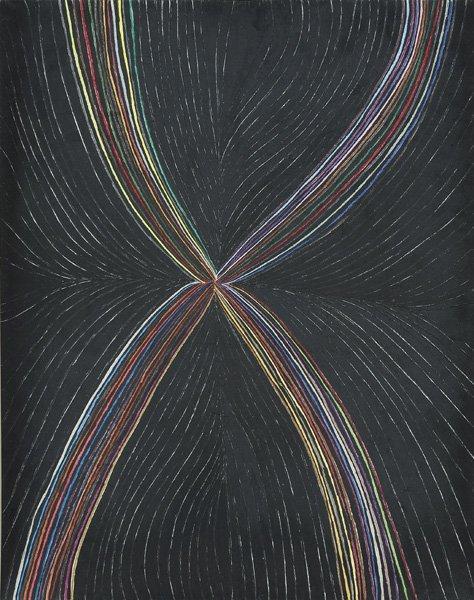 103: MARK GROTJAHN, Untitled (colored rainbow in black
