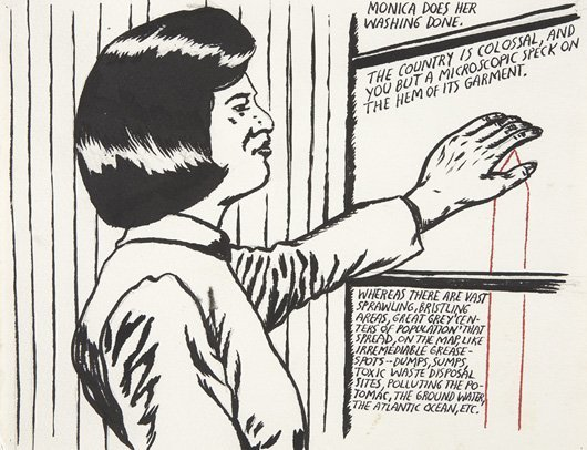 118: RAYMOND PETTIBON, No Title (Monica does her...), 1
