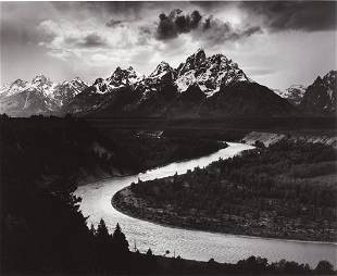 234: ANSEL ADAMS, The Grand Tetons and the Snake River,