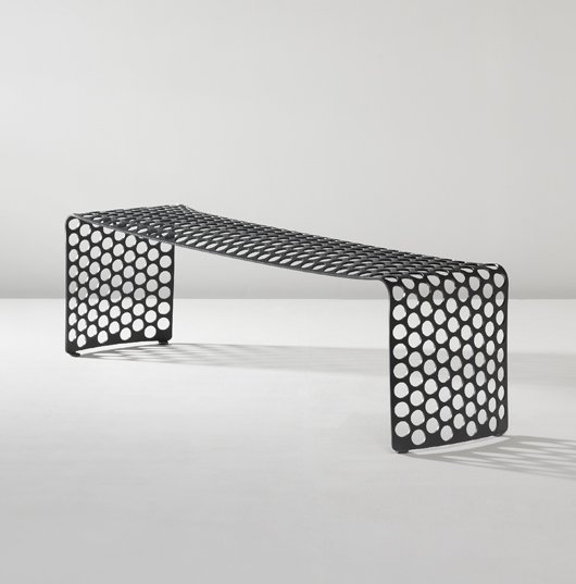 "18: XAVIER LUST, ""Gun Metal Bench"", 2006"