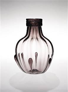 78: VITTORIO ZECCHIN, Rare early colored glass vase, ca