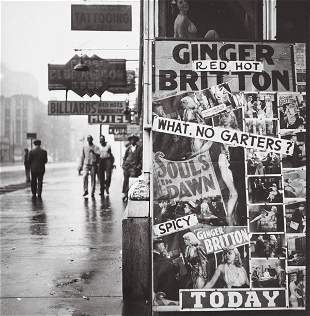 WALKER EVANS (American, 1903-1975) STATE STREET