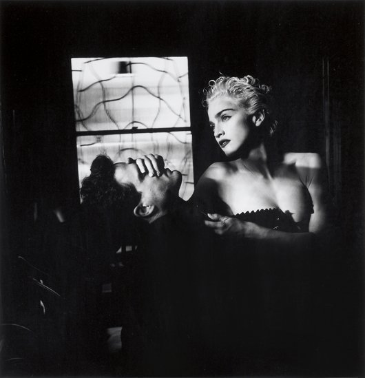 4: HELMUT NEWTON, Madonna Covering Man's Face, Hollywoo