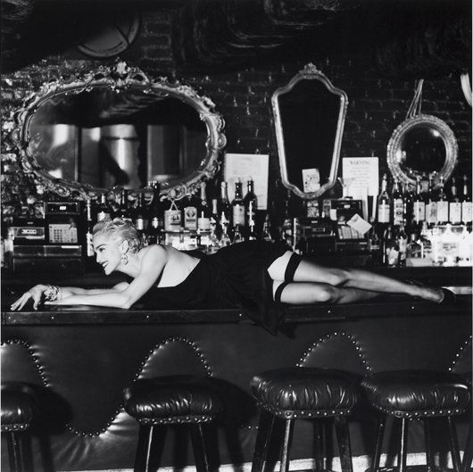 5: HELMUT NEWTON, Madonna at Small's Bar, Hollywood, 19