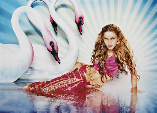 6: DAVID LACHAPELLE, Madonna: Mythical Swans, 1998