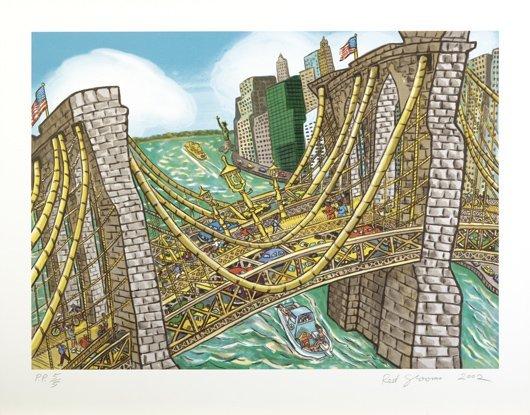4: RED GROOMS, Brooklyn Bridge Bustle, 2002