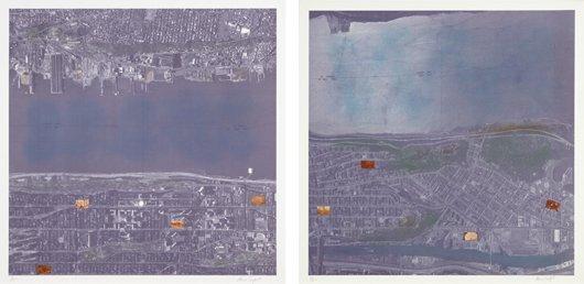 10: ALAN SONFIST, Views of Manhattan: plates 10; and 12