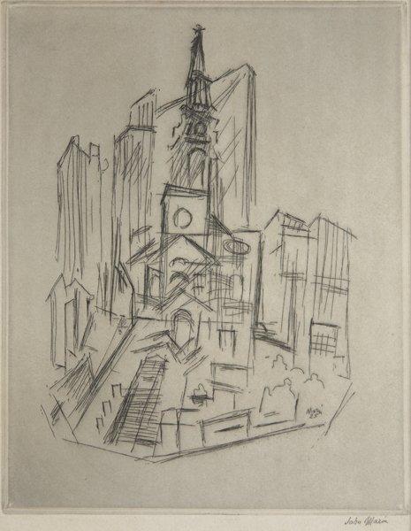 16: JOHN MARIN, St. Paul's, New York, 1925
