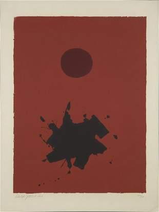 83: ADOLPH GOTTLIEB, Red Ground- Maroon Disc, 1966
