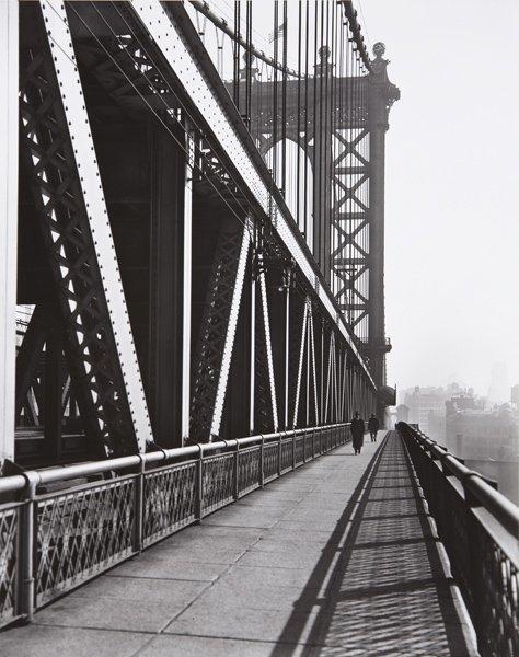 92: BERENICE ABBOTT, Walkway, Manhattan Bridge, New Yor