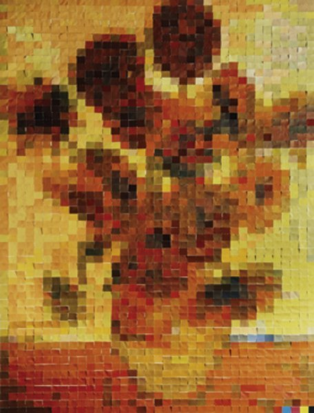 11: VIK MUNIZ, Sunflowers [After Van Gogh] from Picture