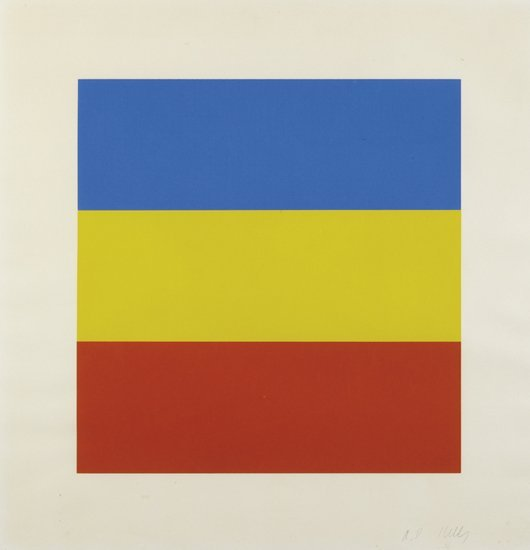 13: ELLSWORTH KELLY, Blue/Yellow/Red (Untitled), 1970-7