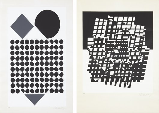 14: VICTOR VASARELY, Album Cinetique: two plates, 1962