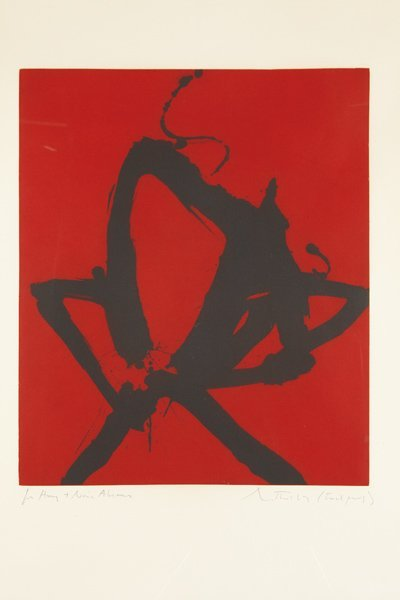19: ROBERT MOTHERWELL, Red Sea I, 1976