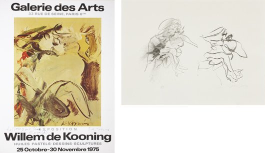 21: WILLEM DE KOONING, Three Figures; and Galerie des A
