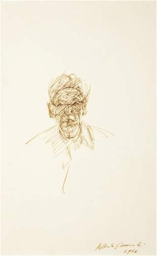 195: ALBERTO GIACOMETTI, Self-Portrait, 1956