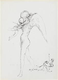 206: SALVADOR DALÍ, Untitled (Angels), 1962