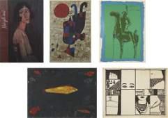 323: VARIOUS ARTISTS, Thirteen works: Various decorativ