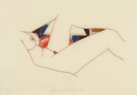 17: TOM WESSELMANN, Study for Bedroom Painting #61, 198