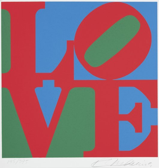 18: ROBERT INDIANA, Love from The American Dream Portfo