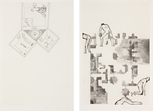 22: FRANCESCO CLEMENTE, Two works: (i) Architecture, 19