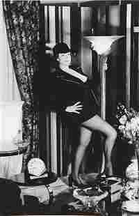 HELMUT NEWTON, Regine at Home, Paris, 1975