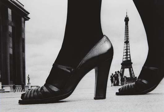 9: FRANK HORVAT, Shoe and Eiffel Tower, Paris, 1974