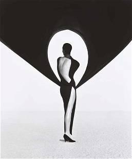 112: HERB RITTS, Versace Dress, Back View, El Mirage, 1