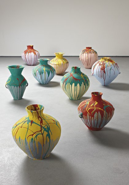 2: AI WEIWEI, Nine Coloured Pots, 2006