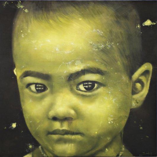 11: LI TIANBING, Autoportrait TB Jaune, 2007