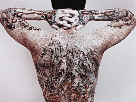 35: HUANG YAN, Chinese Landscape - Tattoo No. 10, 1999