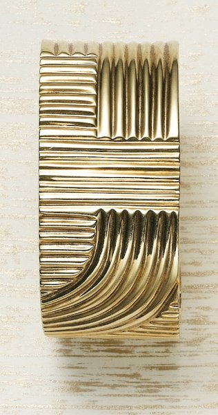 2: , A Yellow Gold Cuff Bracelet