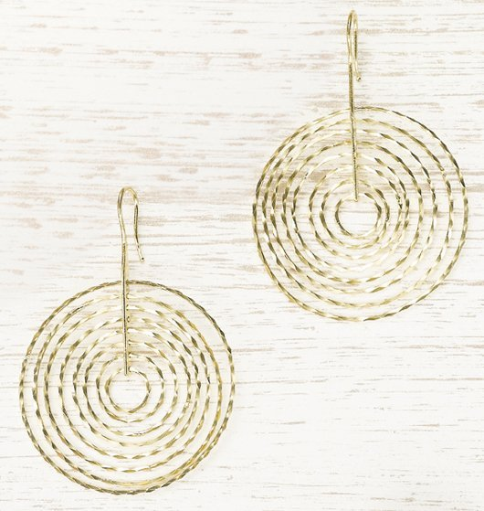 6: , A Pair of Yellow Gold Earrings