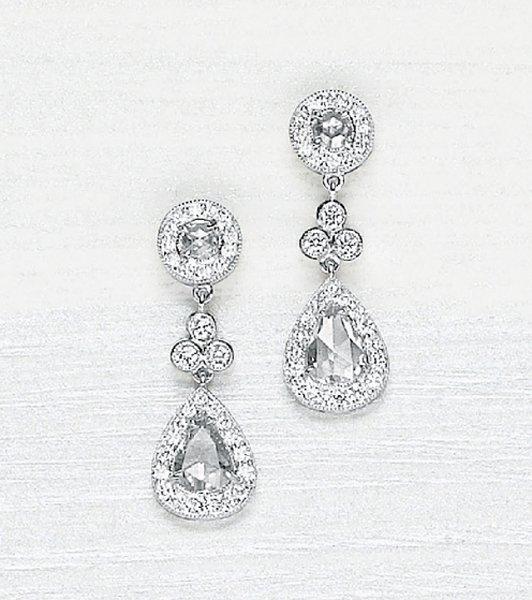 12: , A Pair of Diamond Earrings
