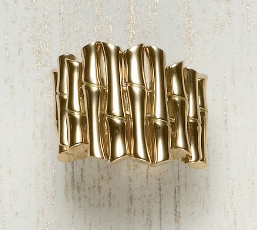 17: GUCCI, A Yellow Gold 'Bamboo' Ring