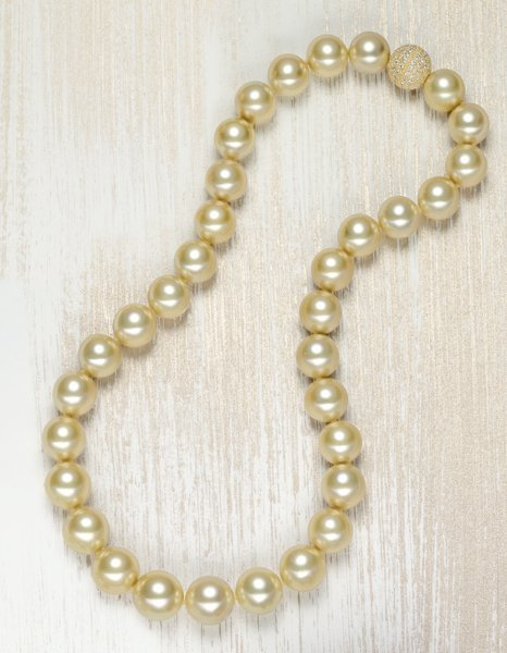 19: , A Golden South Sea Cultured Pearl Necklace