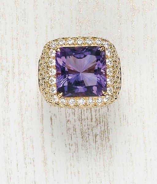 24: MARGHERITA BURGENER, An Amethyst and Diamond Ring