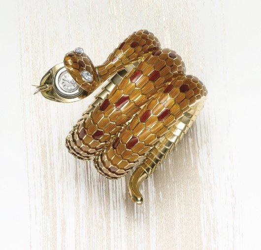 125: BULGARI, A Rare Serpent Bracelet-Watch, 1970