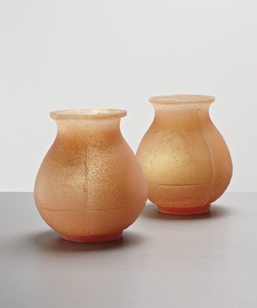 13: HELLA JONGERIUS, Pair of early 'Soft Urns', 1994