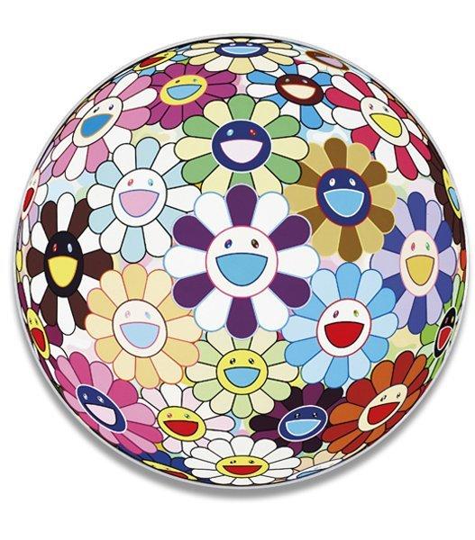 5: TAKASHI MURAKAMI, Flower Ball (3-D) Kindergarten, 20
