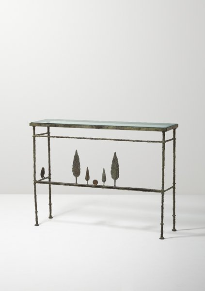 "21: DIEGO GIACOMETTI, ""Hommage à Böcklin"" console, ca."