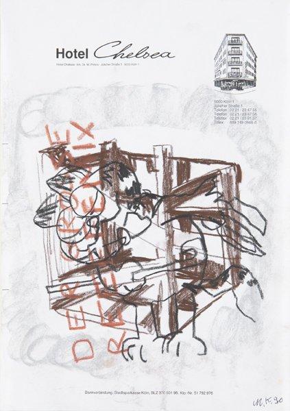 318: MARTIN KIPPENBERGER, Untitled (Garfield), 1990