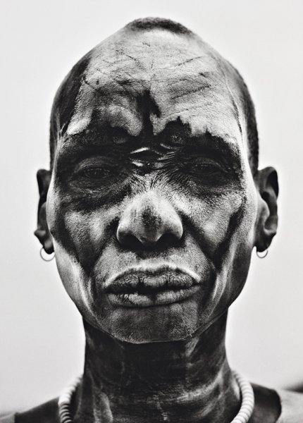1: SEBASTIÃO SALGADO, Dinka Man at cattle camp of Kei,