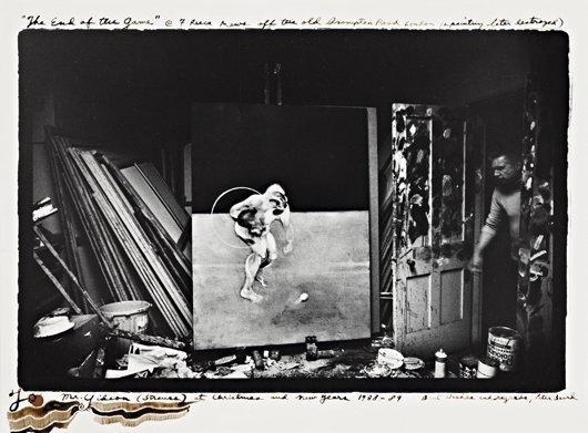 9: PETER BEARD, Francis Bacon in his studio, 7 Reese Me
