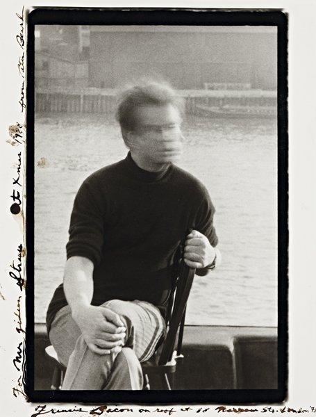 10: PETER BEARD, Francis Bacon on his roof at 80 Narrow
